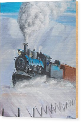 First Train Through Wood Print by Christopher Jenkins