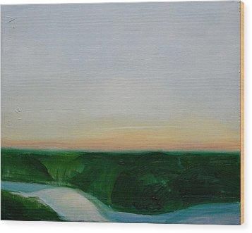 Fishing In The Midnight Sun. Wood Print by Ingimar Waage