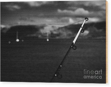 Fishing On The County Antrim Coast Northern Ireland Wood Print by Joe Fox