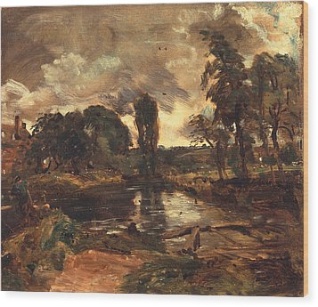 Flatford Mill From The Lock Wood Print by John Constable