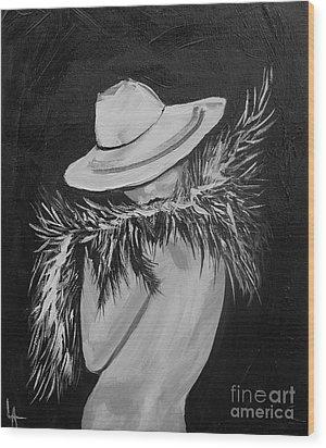 Flirt Two Wood Print by Leslie Allen