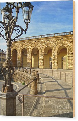 Florence Italy - Pitti Palace - 01 Wood Print by Gregory Dyer
