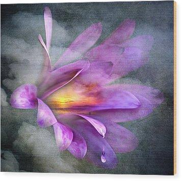 Flower Spirit Wood Print by Svetlana Sewell