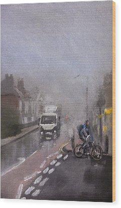 Foggy Herne Bay 2 Wood Print by Paul Mitchell
