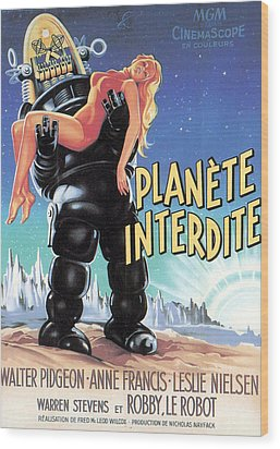 Forbidden Planet, Robby The Robot Wood Print by Everett