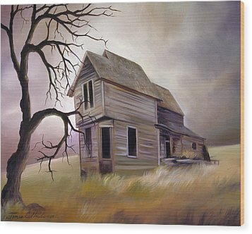 Forgotten But Not Gone Wood Print by James Christopher Hill