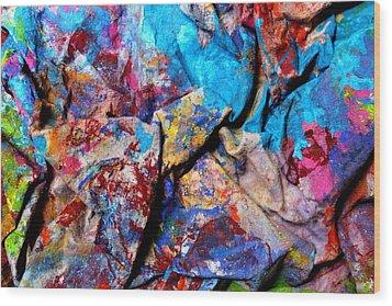 Found Art Studio Rag Wood Print by John  Nolan
