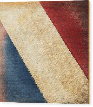 French Flag Wood Print by Setsiri Silapasuwanchai