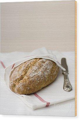 Freshly Baked Whole Grain Bread Wood Print by Shahar Tamir