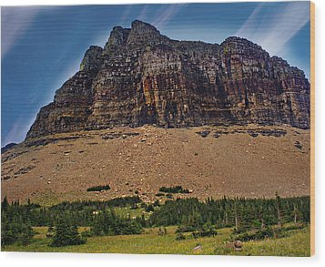 From Logan Pass Wood Print by Marty Koch