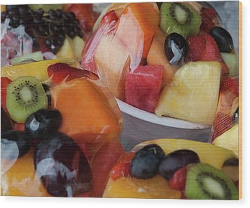 Fruit Cup Wood Print by Lorraine Devon Wilke
