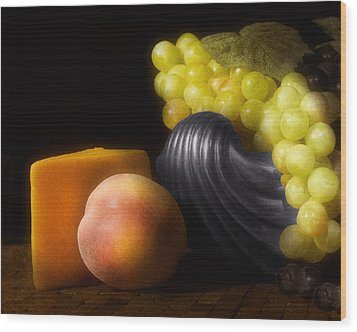 Fruit With Cheese Wood Print by Tom Mc Nemar