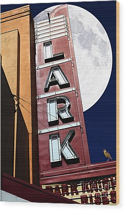 Full Moon Over The Lark - Larkspur California - 5d18489 Wood Print by Wingsdomain Art and Photography