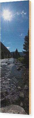 Gallatin River Wood Print by Ken Peterson