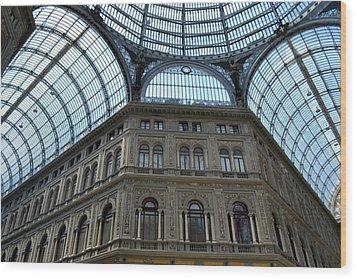 Galleria Umberto 1 Wood Print by Terence Davis