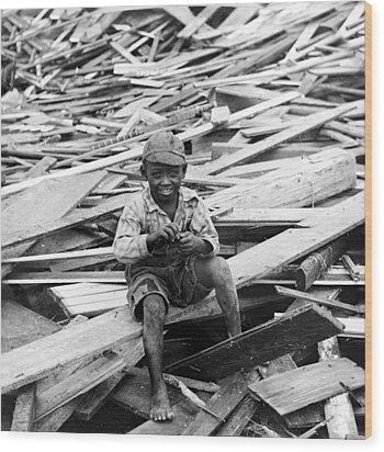 Galveston Flood Survivor - September - 1900 Wood Print by International  Images