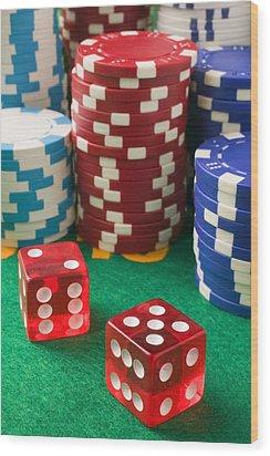 Gambling Dice Wood Print by Garry Gay
