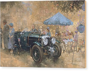 Garden Party With The Bentley Wood Print by Peter Miller