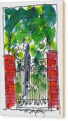 Garden Philadelphia Wood Print by Marilyn MacGregor