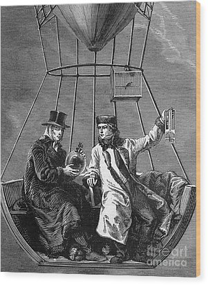 Gay-lussac And Jean-baptiste Biot, 1804 Wood Print by Science Source