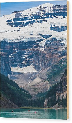 Gem Of The Canadian Rockies Lake Louise Wood Print by Tommy Farnsworth