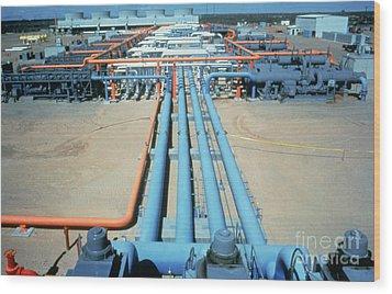 Geothermal Power Plant Wood Print by Science Source