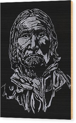 Geronimo Wood Print by Jim Ross