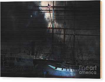 Ghost Ship Of The San Francisco Bay . 7d14032 Wood Print by Wingsdomain Art and Photography