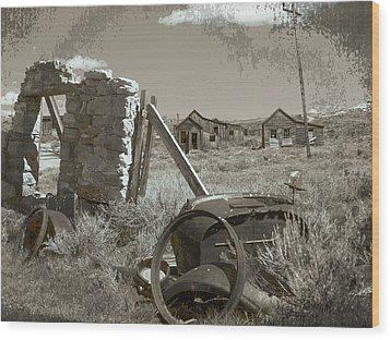 Ghost Town Series 3 Wood Print by Philip Tolok