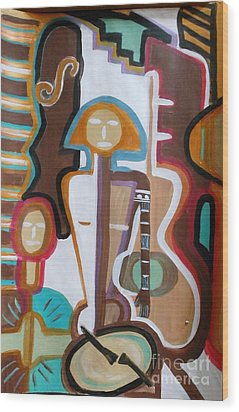 Girl Band Wood Print by Marie Bulger