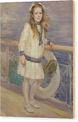Girl In A Sailor Suit Wood Print by Charles Sims
