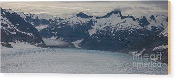 Glacial Panorama Wood Print by Mike Reid