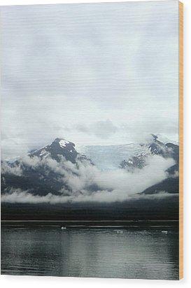 Glacier Mountain Wood Print by Mindy Newman