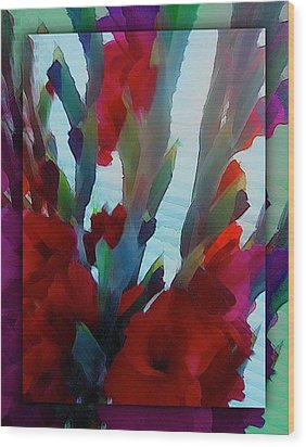 Wood Print featuring the digital art Glad by Richard Laeton