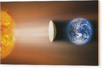 Global Warming Sun Shield, Artwork Wood Print by Victor De Schwanberg