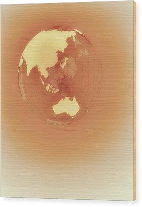 Globe Of Eastern Hemisphere Wood Print by Jason Reed
