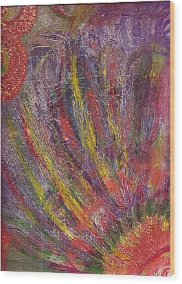 Glorious Day Rays Wood Print by Anne-Elizabeth Whiteway