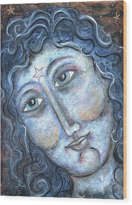 Goddess Of The Northern Star Wood Print by Suzan  Sommers