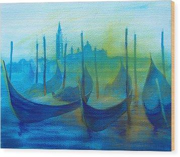 Gondolas Wood Print by Khromykh Natalia