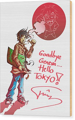 Goodbye Wood Print by Tuan HollaBack