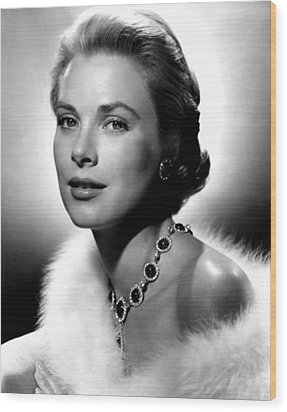 Grace Kelly, 1955 Wood Print by Everett