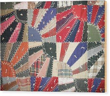 Grandma Baird's Quilt Wood Print by Wayne Potrafka