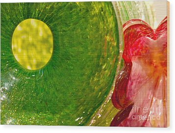 Green And Red Wood Print by Artist and Photographer Laura Wrede