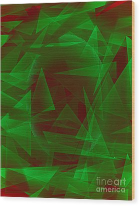 Green Eyed Monster Abstract Wood Print by Michelle Bergersen