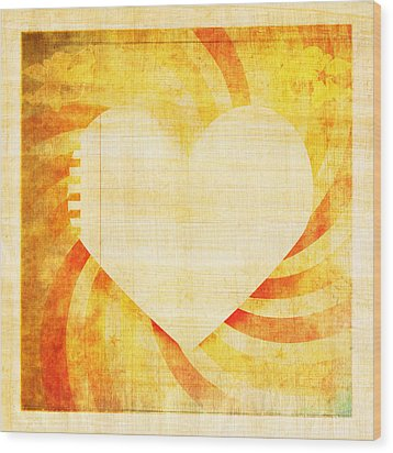 greeting card Valentine day Wood Print by Setsiri Silapasuwanchai