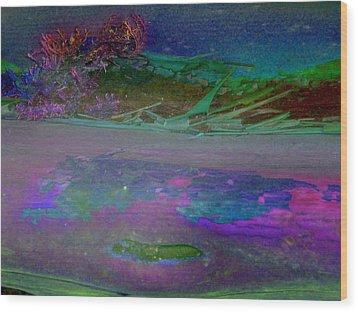 Wood Print featuring the digital art Grow by Richard Laeton