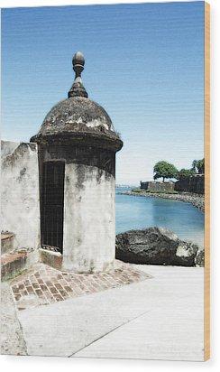 Guard Post Castillo San Felipe Del Morro San Juan Puerto Rico Diffuse Glow Wood Print by Shawn O'Brien