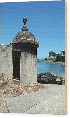 Guard Post Castillo San Felipe Del Morro San Juan Puerto Rico Wood Print by Shawn O'Brien