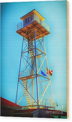 Guard Tower Wood Print by Thanh Tran