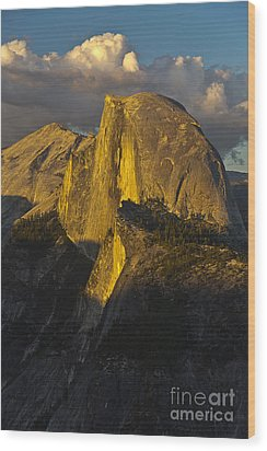 Half Dome At Sunset Wood Print by Rodney Cammauf